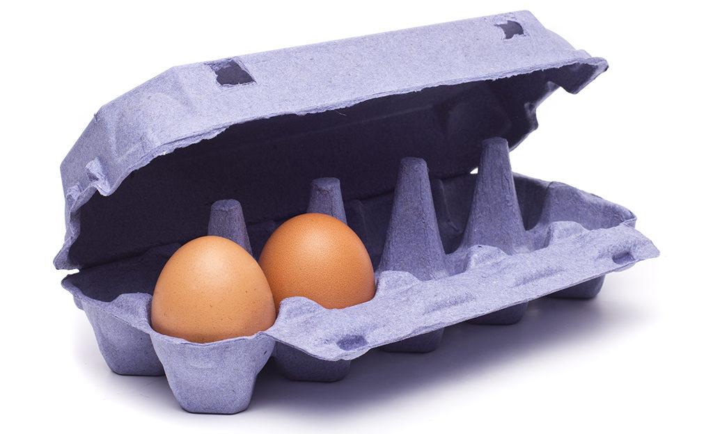 Lähes tyhjä munakenno.